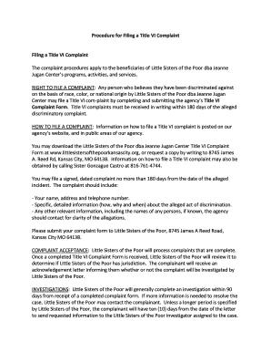 Editable complaint letters for poor service pdf - Fillable