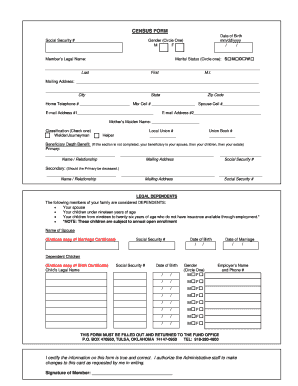 Census Form Bpibfbborgb Fill Online Printable Fillable Blank