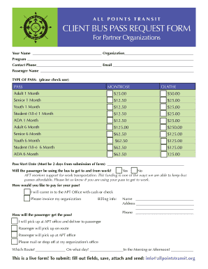 All POiNTs TraNsiT ClIeNT Bus PAss RequesT FORM Fill Online