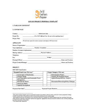 project budget proposal template forms fillable printable