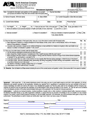 Fillable sample reinstatement letter for life insurance ...