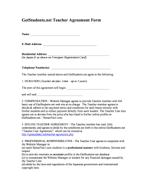 Fillable teachers agreement form edit online print download bgetstudentsbbnetb teacher agreement form platinumwayz