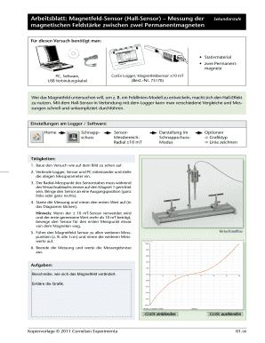 Fillable Online corex Arbeitsblatt: Magnetfeld-Sensor (Hall-Sensor ...