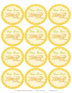 picture regarding Honey Jar Labels Printable called Fillable On the internet Ode in direction of Honey Bee Honey Jar Lid Label