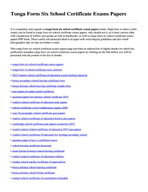 School leaving certificate format india pdf