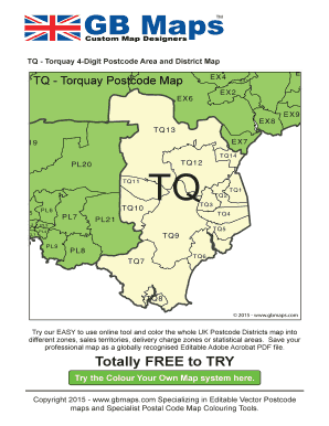 Fillable Online Tq-torquay-postcode-map Fax Email Print