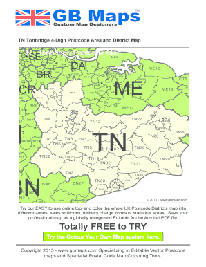 Fillable Online Custom Map Designers TN Tonbridge 4-Digit