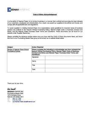 Editable business letter template pdf fill out best business business letter template pdf code of ethics acknowledgement pronofoot35fo Image collections