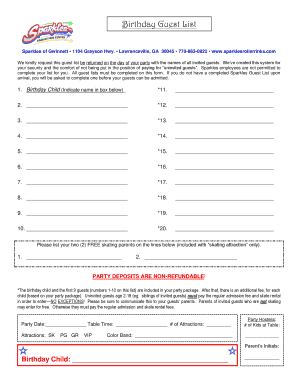 8 printable wedding guest list template pdf forms fillable samples