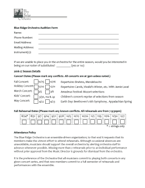 Editable acting audition form format - Fill, Print & Download Law