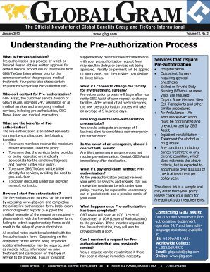 Understanding The Pre Authorization Process