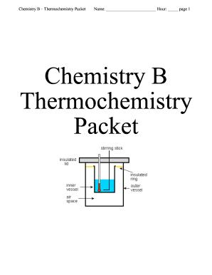 Chemistry Thermochemistry Packet Answer Key - Fill Online ...
