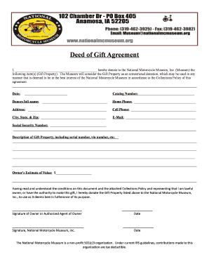 Gift Agreement Property Edit Fill Print Download