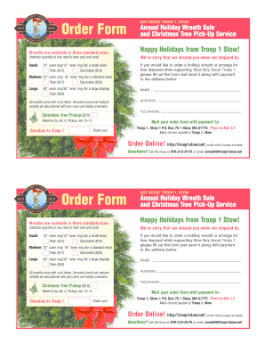 Boy Scout Wreath Order Form 2019 Fill Online Printable Fillable Blank Pdffiller