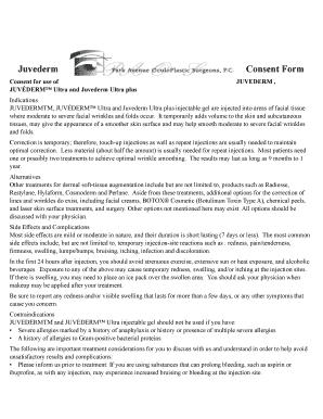 Fillable Online Juvederm Consent Form - Dr. Popham Fax Email Print ...