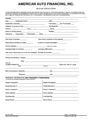 auto credit application pdf edit print fill out download