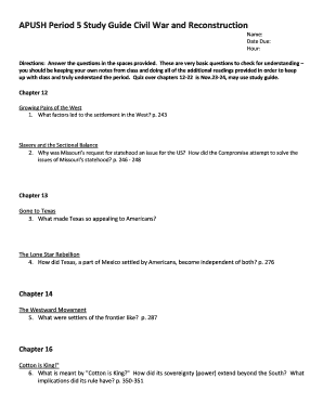 Editable apush period 2 study guide Templates to Complete Online