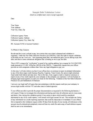 Fillable online sample debt validation letter foreclosure defense fill online spiritdancerdesigns Image collections