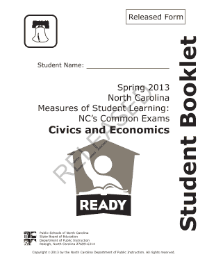 Civics And Economics Released Form 2013 - Fill Online, Printable ...