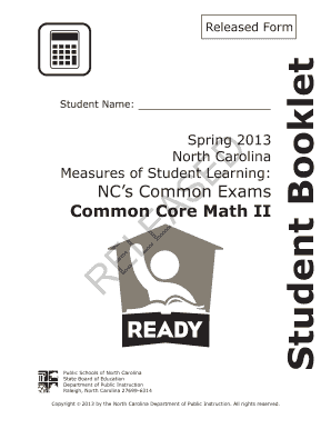 Common Core Math Iii Released Form Answer Key - Fill Online