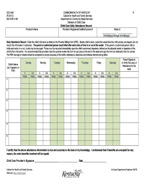 Provider Billing Form - Kentucky: Cabinet for Health and Family ... - chfs ky