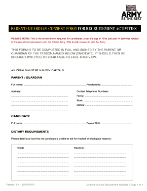 Parent Consent Forms | Parent Consent Forms Templates Fillable Printable Samples For