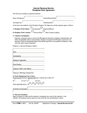 Work Agreement Form Fill Online Printable Fillable