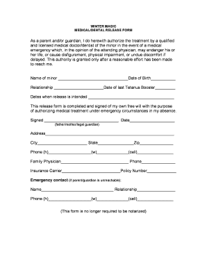 doctor release form to return to sports