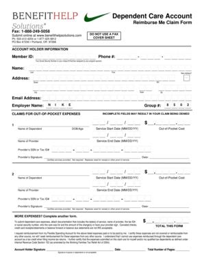 Fillable Online Nike - 2010 Claim Form - DCAP.doc. Image Fax Email ...