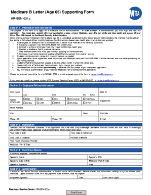 medicare apply on mta form
