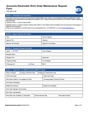Work Order Forms Templates - Fillable & Printable Samples for PDF ...