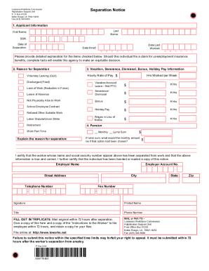 La Form 77 - Fill Online, Printable, Fillable, Blank | PDFfiller
