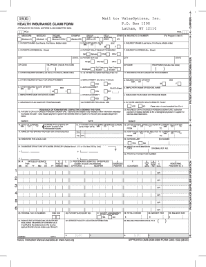 Fillable Online ValueOptions Claim Form - My PGE Benefits Fax ...