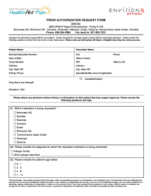 Fillable Online wellsense Nasal Corticosteroids PA Form Fax Email ...