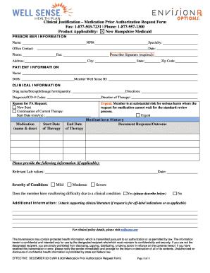 Fillable Online wellsense General medication request form - Well ...
