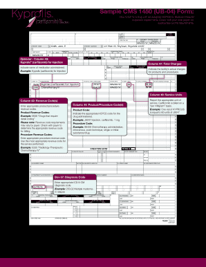 Fillable Online Sample CMS 1450 (UB-04) Form: - Kyprolis Fax Email ...