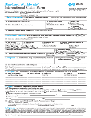 Fillable Online mpiphp International Claim Form - mpiphp.org Fax ...