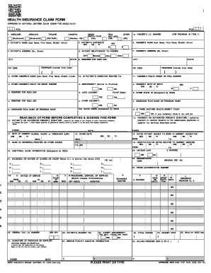 Health Claim Form 1500 - Fill Online, Printable, Fillable, Blank ...