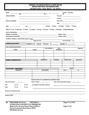 Fillable Online med-quest F181 SMI Referral Form Revised Fax Email ...