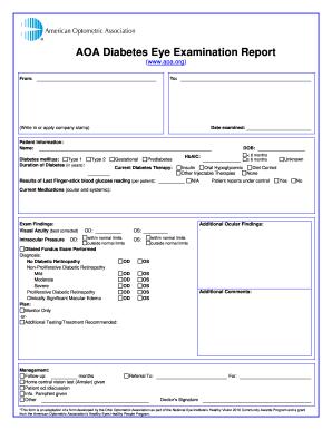 Optometry write document online