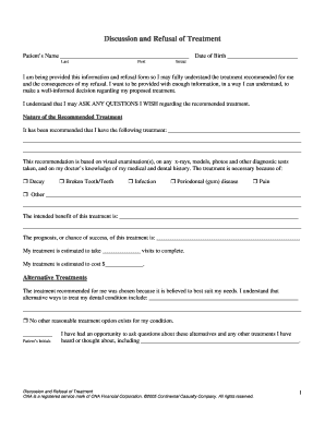 Informed Refusal Form   Nnoha · Leave Questionnaire Form
