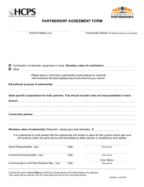 henrico partnership agreement form