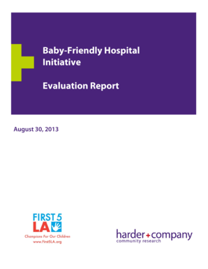 Baby Friendly Hospital Initiative Evaluation Report