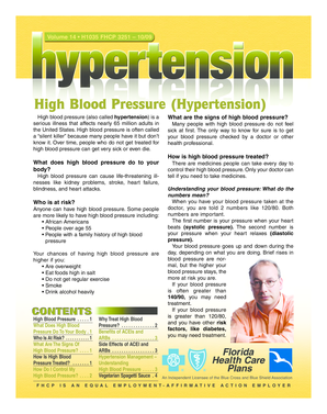 High Blood Pressure Hypertension - Florida Health Care Plans