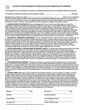 CABB Form 14 Confidentiality Agreement - home earthlink