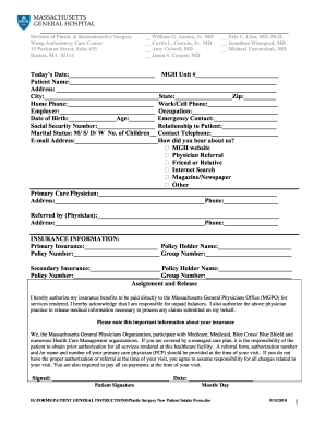 medical treatment authorization forms
