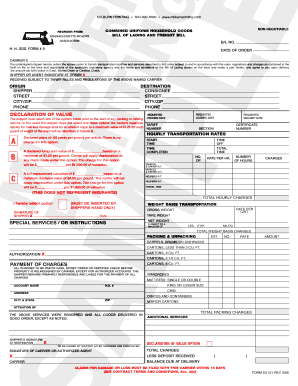 milburn printing Editable non negotiable bl - Fill Out