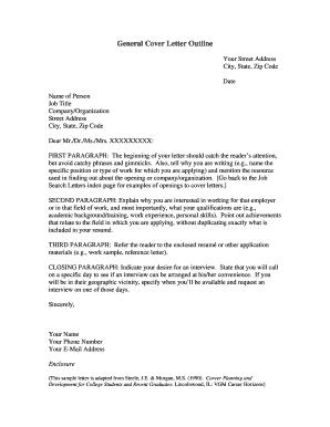 Fillable Online www5 wittenberg Cover Letter Format - www5