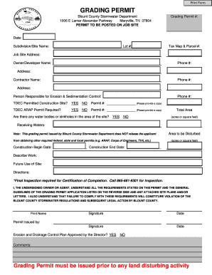 Grading bPermitb Application - Blount County Government