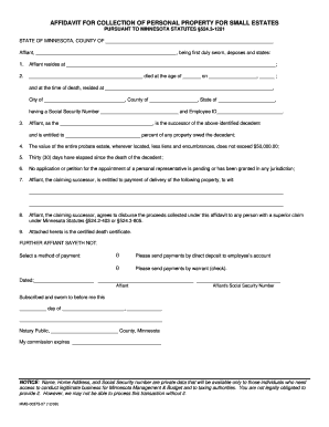 small estate affidavit indiana Forms and Templates - Fillable ...
